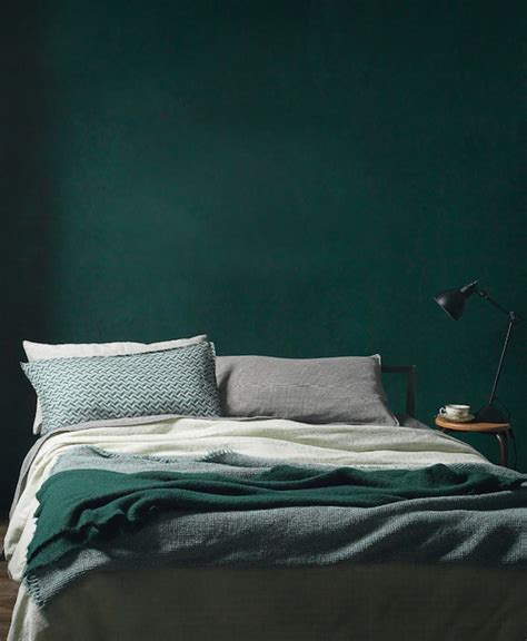 Dark Green Bedroom Ideas | how to decorate your home with hunter green stylecaster