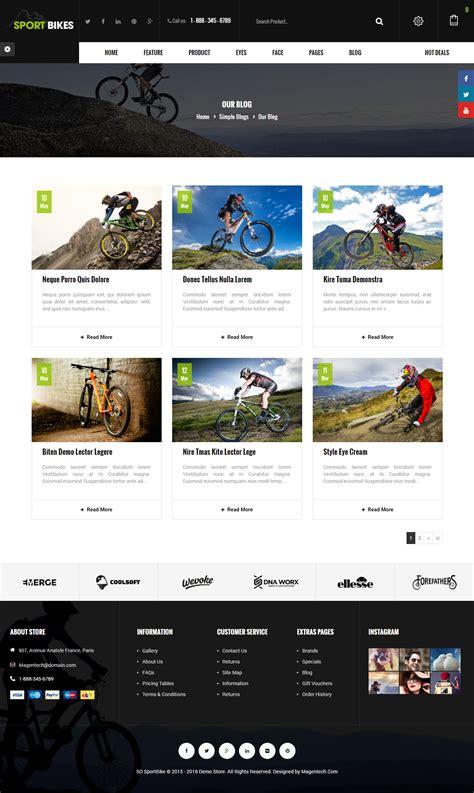 blog theme opencart sportbike premium responsive opencart theme by magentech
