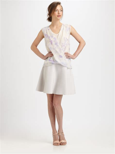 Pearl Knit Skirt knit flared skirt in white lyst
