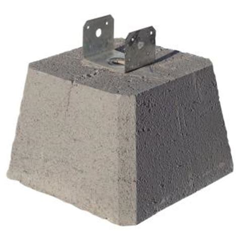 1 inch pipe floor support saddle concrete pier block with metal bracket 8053112 the home