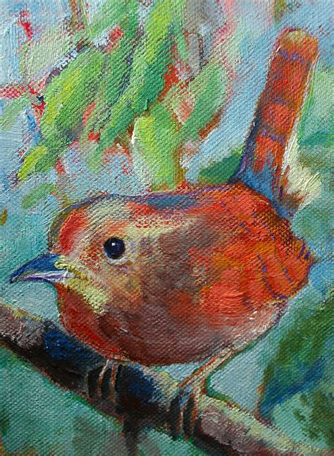 bird s morning song painting by carol jo smidt