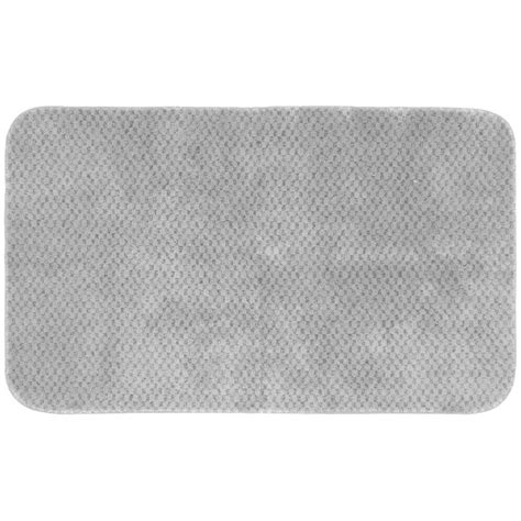Bathroom Accent Rugs | garland rug cabernet platinum gray 30 in x 50 in