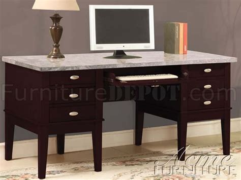office desk with marble top espresso finish marble top classic home office desk