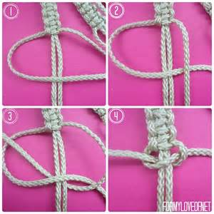Macrame Square Knot Tutorial - diy macrame wall hanging tutorial formyloveof net