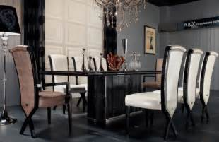 Henshaw Black Dining Table Supreme Luxury Veneer And Black Crocodile Dining Table