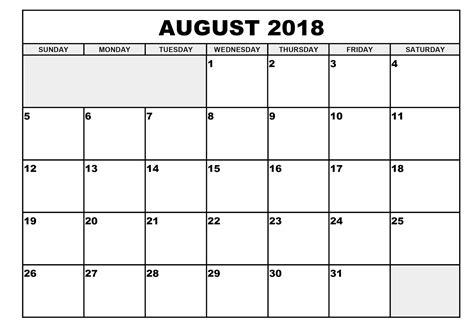 printable calendar july august 2018 printable monthly calendar august 2018 journalingsage com