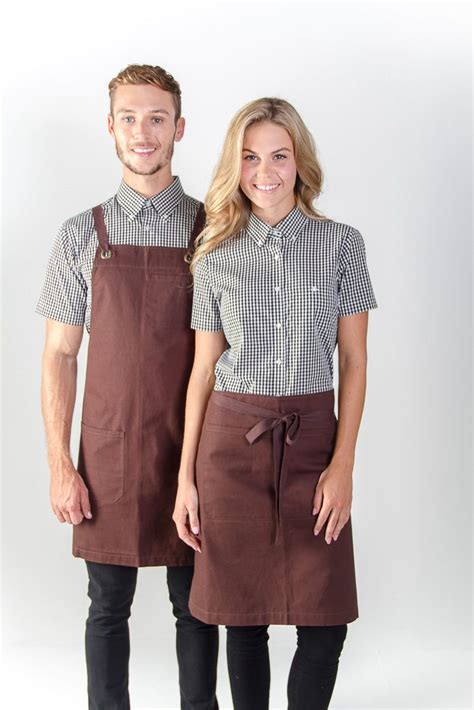 design cafe uniform 100 cotton canvas apron in store embroidery logo