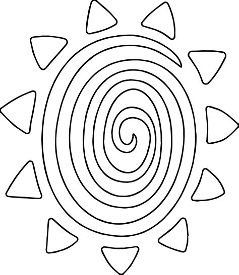 sun rays coloring page sun coloring and clouds page with pages circle in the rays