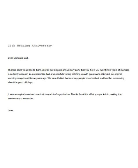 Wedding Anniversary Note To by 4 Wedding Thank You Note Exles Sles