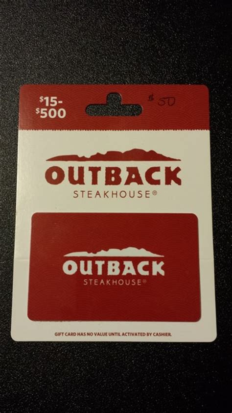 Where To Buy Outback Gift Cards - fs 50 outback steakhouse gift card blowout cards forums