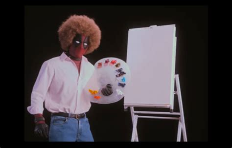 bob ross painting deadpool deadpool 2 teaser trailer offers bob ross style painting