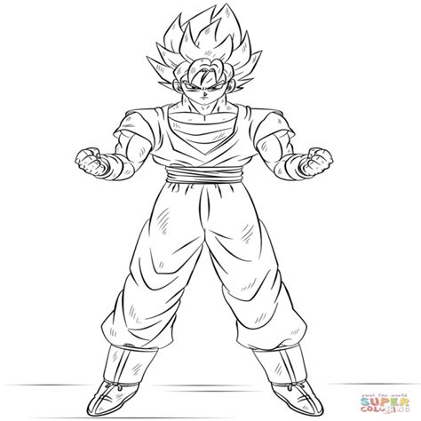 imagenes de goku para colorear dibujo de goku super saiyan para colorear dibujos para