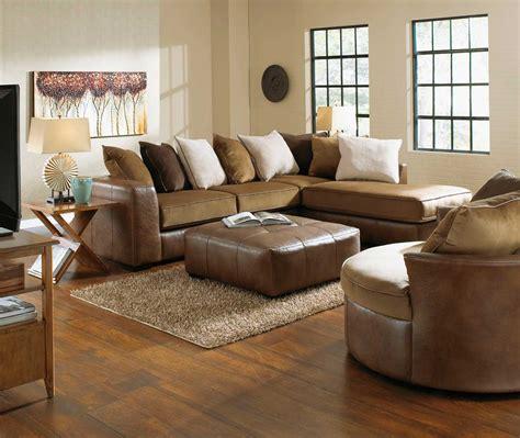 Jackson Upholstery by Jackson Strickland Sectional Sofa Set Chestnut Jf 4456