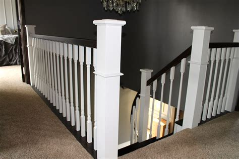 style l post remodelaholic curved staircase remodel with handrail