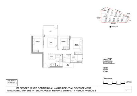Northpark Residences Floor Plan by 3 Bedroom Park Residences