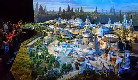 star wars hong kong movie tickets walt disney unveils 50 foot wide star wars land model at