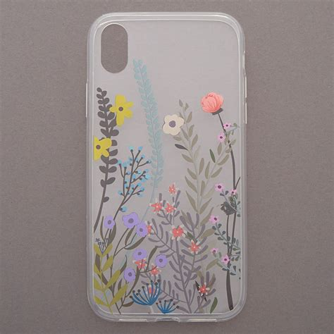 wild flower phone case fits iphone xr claires