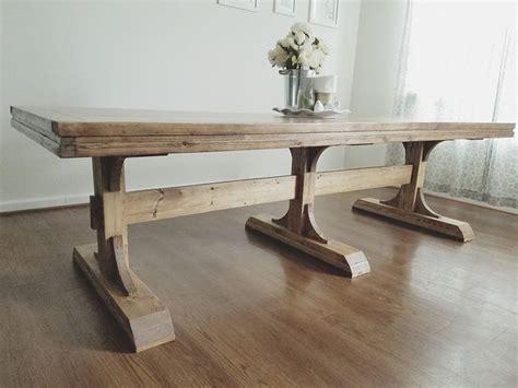 farmhouse trestle table plans stunning trestle dining table diy dining room tutorials