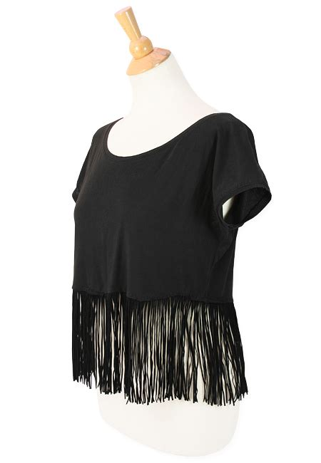 how to make fringe shirts with diy leather fringe cropped t 171 m j