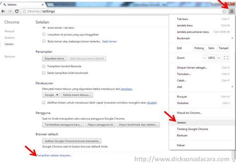 chrome indonesia cara mengganti bahasa browser google chrome indonesia