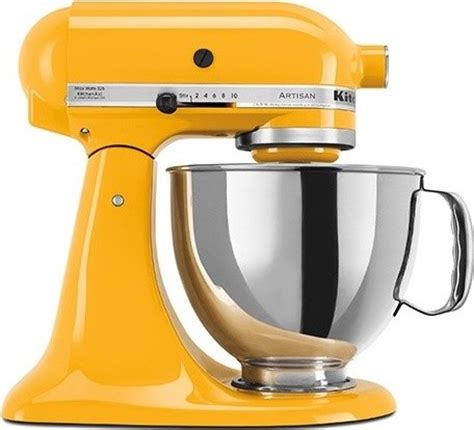 kitchen aid yellow kitchenaid artisan stand mixer in yellow pepper