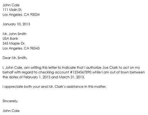 bank signature authorization letter format authorization