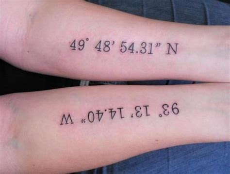 longitude latitude tattoo best 25 latitude longitude ideas on my