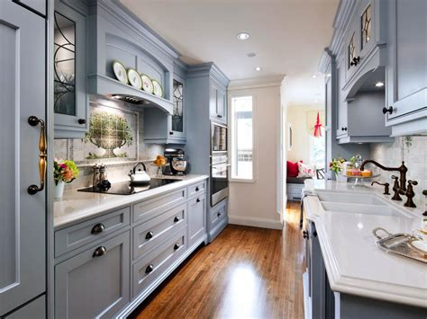 galley kitchen cabinets galley kitchens hgtv