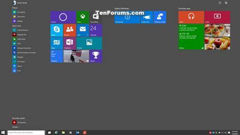 windows 10 tutorial start menu enable or disable resizable start menu in windows 10