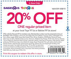 Toys r us coupon new 20 off toys r us or babies r us couponliving