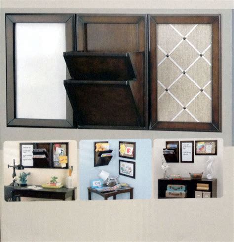 Office Wall Organizer New 3 Pc Wood Home Office Wall Hanger Organizer Board