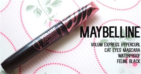 Mascara Maybelline Hypercurl Cat maybelline volum express hypercurl cat mascara swatches and review madokeki makeup