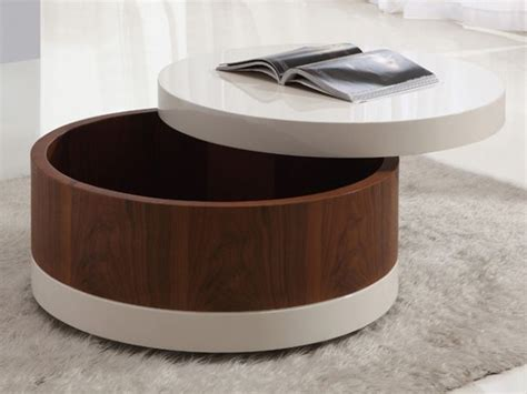 redoubtable round coffee table with storage