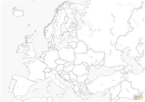picture europe map europe map coloring page free printable coloring pages