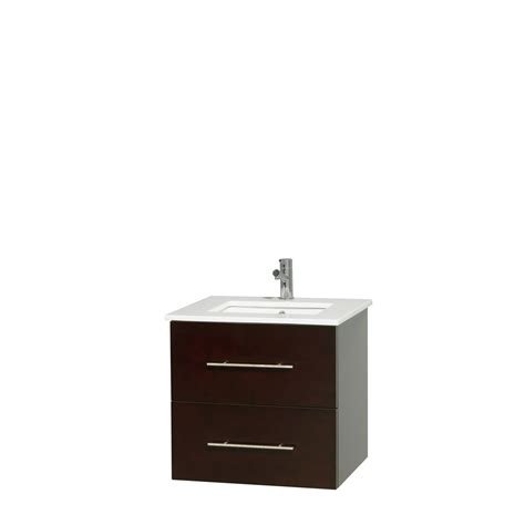 centra 24 in single vanity in white with solid surfacetop wyndham collection wcvw00924seswsunsmxx centra 24 inch