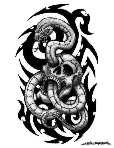 cool snake tattoo designs 30 snake skull tattoos design