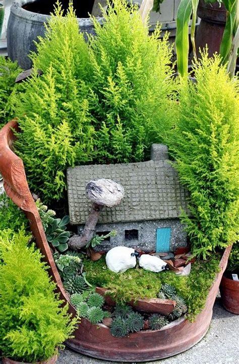 giardini fantastici riciclare i vasi rotti in fantastici giardini in miniatura