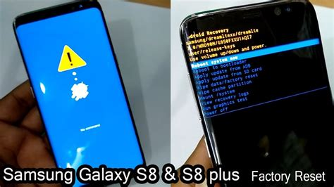 pattern unlock error samsung galaxy s8 and s8 plus hard reset pattern unlock