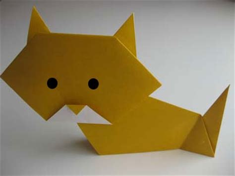 Easy Cat Origami - easy origami cat crookshanks for the
