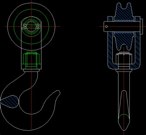 crane hook dwg block  autocad designs cad