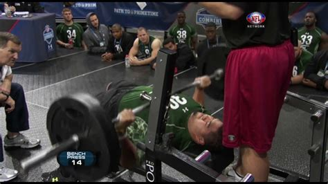 combine bench press record stephen paea breaks bench press record with 49 reps 2011 nfl combine youtube