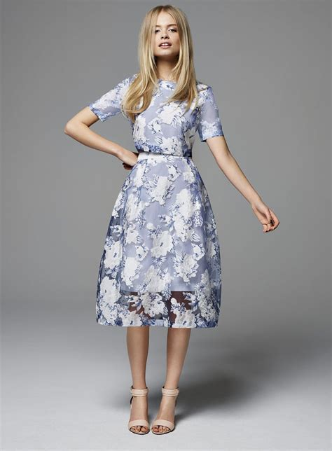 Miss Selfridge Summer Skirt by Floral Organza Midi Skirt View All New In Miss