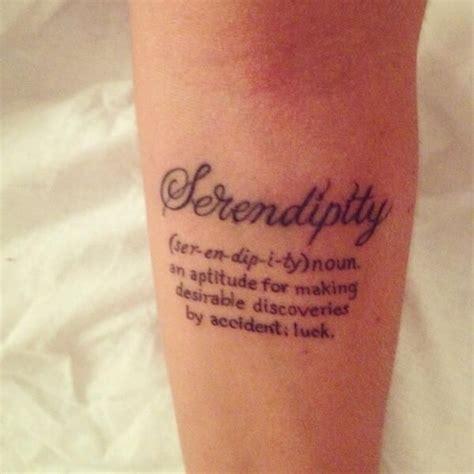 serendipity tattoo top 25 best serendipity ideas on word