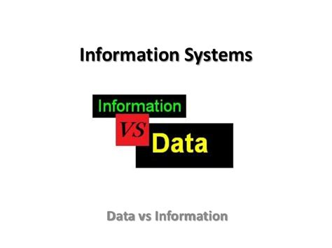 Ms Vs Mba Information Systems by Btec National In Ict Unit 3 Data Vs Information