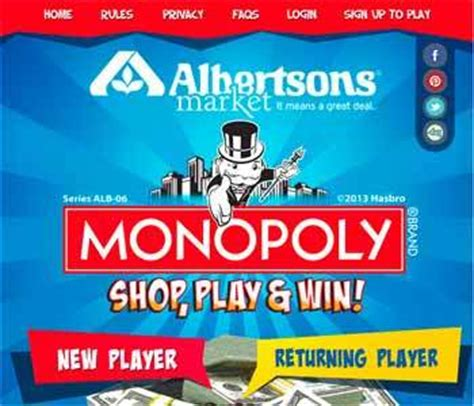 Albertsons Survey Sweepstakes - albertsons monopoly
