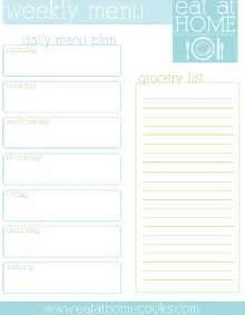 Organize Kitchen 20 free menu planner printables fab n free