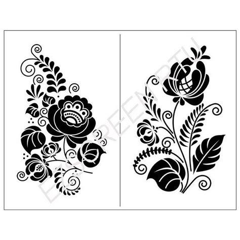 art design genetic screens ready to use diy screen printing stencil ornate flower
