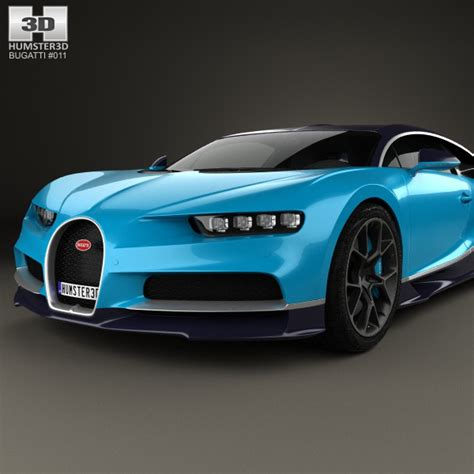 model of bugatti bugatti chiron 2017 3d model humster3d