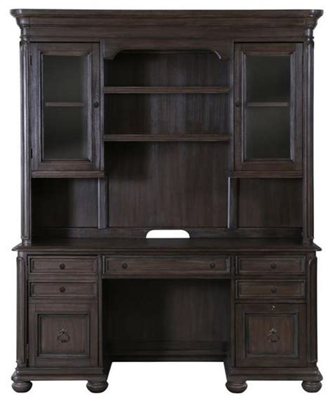 Desk With Credenza And Hutch traditional credenza with hutch traditional desks and hutches by shopladder