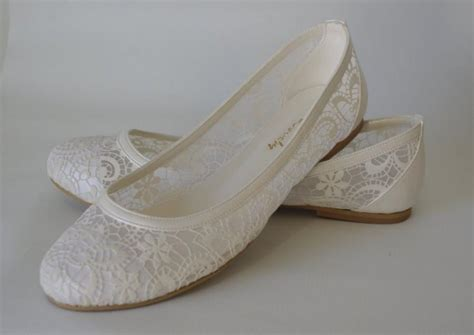 wedding shoes handmade lace ivory flat wedding